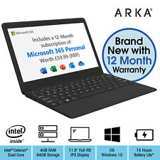 ARKA Book Laptop 11.6 inch Windows 10 FHD Intel Celeron Dual Core 4GB RAM 64GB