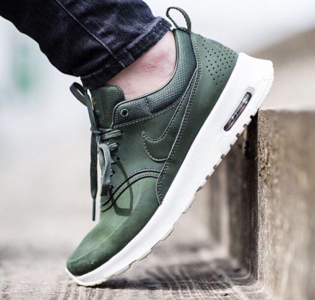 bf6eb733a57b Nike Air Max Thea Premium Womens 616723-304 Carbon Green ...