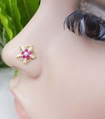 Mothers Day gift Special Nose Screw Indian Nose Ring Gold Nose Jewelry Nose Stud