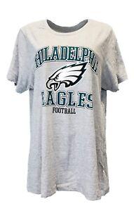 589becd8 Philadelphia Eagles Women's NFL Team Apparel Grey T-Shirt, Plus Size ...