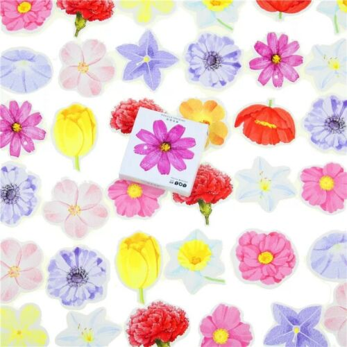 Flower stickers for crafts cardmaking scrapbooking 45pcs Various Flowers
