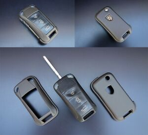 For Porsche Remote  Key Cover Case Skin  Cap  Protection Bag Hull Grey