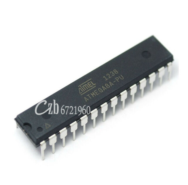 5PCS ATMEGA8A-PU ATMEGA8A DIP-28 MCU AVR 8K FLASH 16MHZ CHIP IC