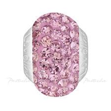 Lovelinks Bead Sterling Silver, Swarovski Pink Crystals Charm Jewelry TT344PI
