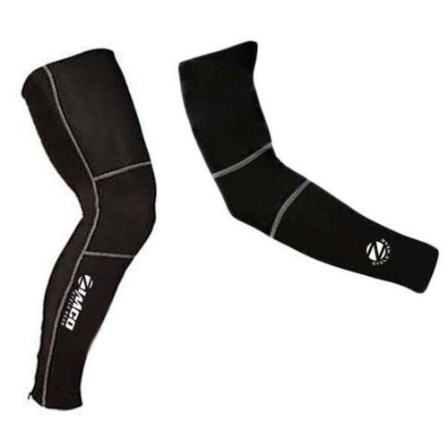Zimco Cycling Biking Super Roubaix Cycling Thermal Arm /& Leg Warmers Combo