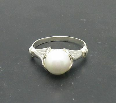 STERLING SILVER RING SOLID 925 PEARL SIZE 4-10 NEW
