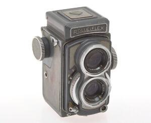 Rollei-not-working-TLR-Grey-Baby-Rolleiflex-4x4-with-60-3-5-Xenar-exc
