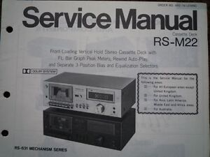 technics rs m22 cassette tape deck service manual wiring. Black Bedroom Furniture Sets. Home Design Ideas