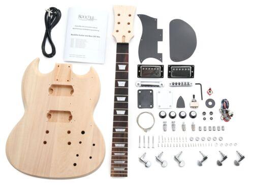 Rocktile Double Cut E-Gitarre Bausatz selber bauen Do It Yourself Kit DIY Set