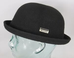 Kangol Wool Bombin Hat Small Melon Bowler Hat Black Wool Hat New  ecaf8f36972
