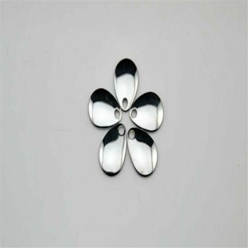 Details about  /50PCS Best Fishing Flattie Attractor Spinner Blades Smooth Nickel Spoons Plaice