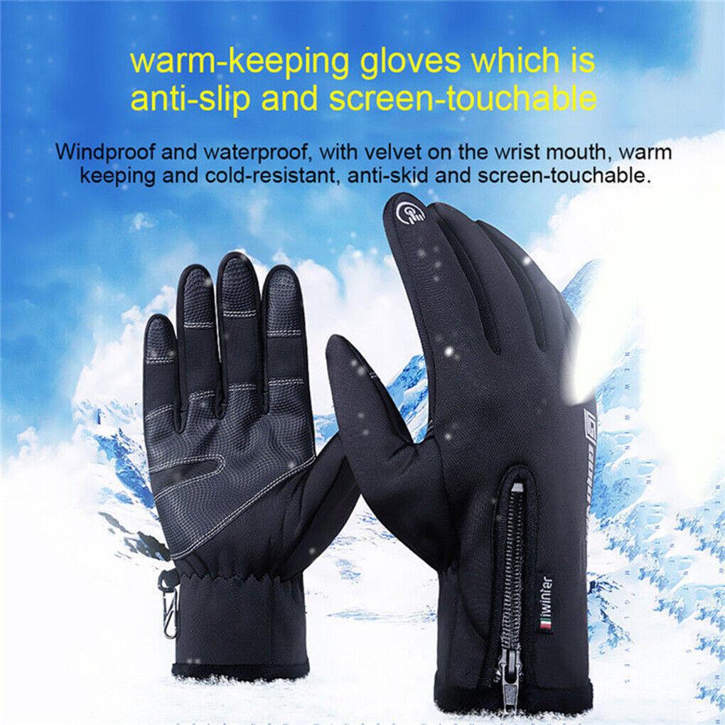 Unisex Winter Warm Keeping Anti-slip Touch Screen Gloves Outdoor Sport Gloves US