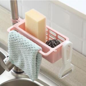 Kitchen-Sink-Faucet-Sponge-Soap-Cloth-Drain-Rack-Storage-Organizer-Holders-Shelf