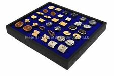 1 New Cufflinks Storage Display Blue Stackable Tray