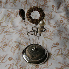 A Lovely Edwardian Silver Hat Pin Stand by A.J. Zimmerman Hallmarked B'ham 1904