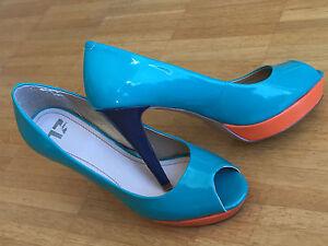 Zu 39 Fancy 17 Details High Schuhe Pumps Heels Lack Görtz Toe Damen Peep Plateau 354cRqSALj