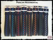 Cinturini Nato Perlon Regimental ardiglione silver 20mm. Perlon Nylon Straps.