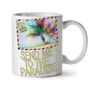 Summer Travel Sea NEW White Tea Coffee Mug 11 oz   Wellcoda
