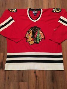 Vintage-90S-Starter-Chicago-Blackhawks-Hockey-Jersey-Size-Xl