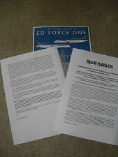 IRON MAIDEN - THE BOOK OF SOULS TOUR - RARE PROMO PRESS RELEASE   SPEED OF LIGHT