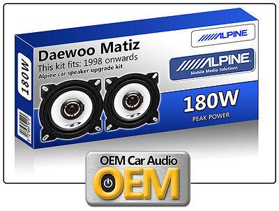 Altavoces de coche para chevrolet matiz II a partir de 2005 parte trasera atrás-página coaxial 70w #zym