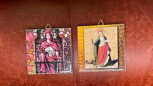 Holy-Sacramental-034-St-Barbara-amp-St-Catherine-034-Tiles-from-George-Anderson-039-s-Per