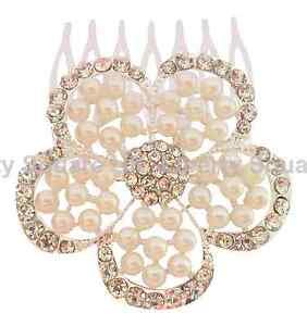 Accessoires Cheveux Cristal Argent Et Cheveux Fleur Perle Peigne / Demoiselle D'honneur # 165-afficher Le Titre D'origine