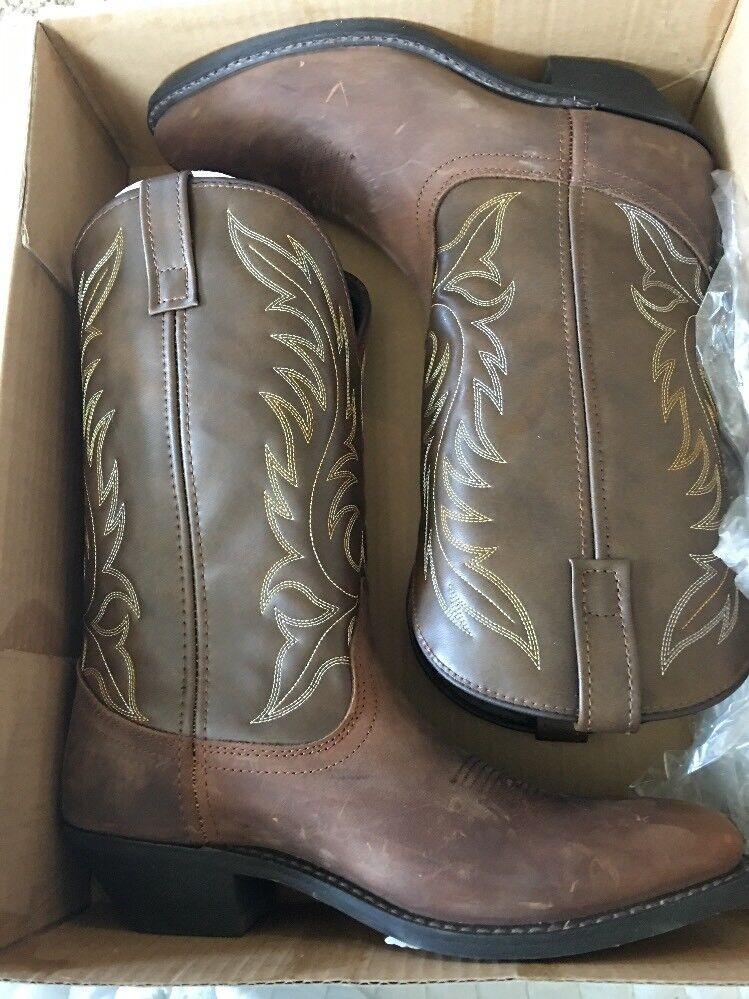 LaROTo 5742: Damens Kadi Tan Cowgirl Stiefel Größe 9.5 M Distressed Leder