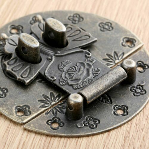 1Pc Furniture Jewelry Box Butterfly Clasp Vintage Wooden Case Cabinet Hasp Latch