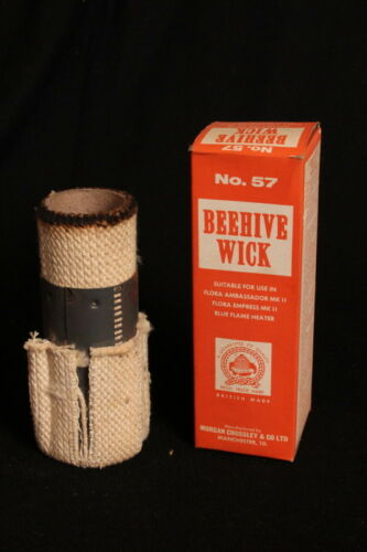 New Boxed Old Stock for FLORA Blue Flame Heaters BEEHIVE No.57 Parafin Wick