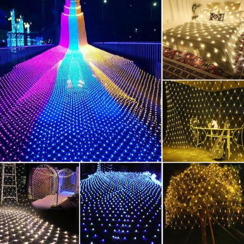 In//Outdoor 96//200//880 LED Fairy String Net Lights Window Garden Christmas Lamps