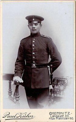 Cdv Foto Soldat - Chemnitz 1900er Verpackung Der Nominierten Marke