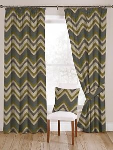Image Is Loading McAlister Textiles Navajo Chevron Geometric Pattern Green And