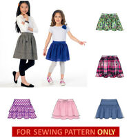 Sewing Pattern Make Skirts 5 Styles Child 3 To Girl 14 School Clothes
