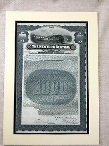 Americana-Magazzino-Bond-Certificato-il-New-York-Centrale-Ferrovia-Company-1920s