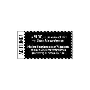 Details Zu Auto Anti Visitenkarten Aufkleber Weiß Sticker Fahrzeug Digitaldruck Decal