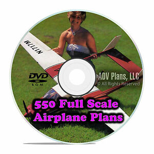 Details about 550 Full Scale RC Model Airplane Plans Templates Scratch  Build Giant DVD F58
