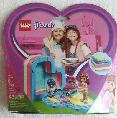 New Lot of 1 Lego Friends Olivia Summer/'s Heart Box 41387 Building Set 93 Pieces