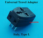 3 Universal Ports USA AUS UK Euro to Italy Ground Travel Adpator AC Power Plug