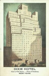 Dixie-Hotel-42nd-Street-Lumitone-1930s-New-York-City-Postcard