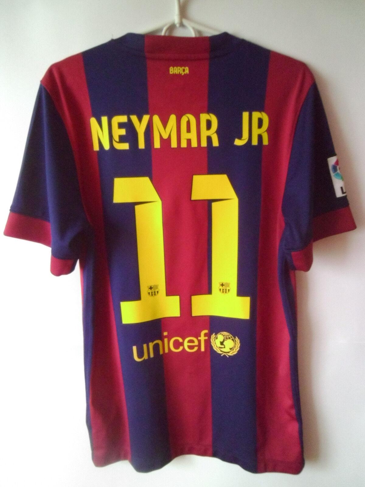 EXCELLENT      NEYMAR JR     2014-15 Barcelona Home Shirt Jersey Trikot S 7e571c
