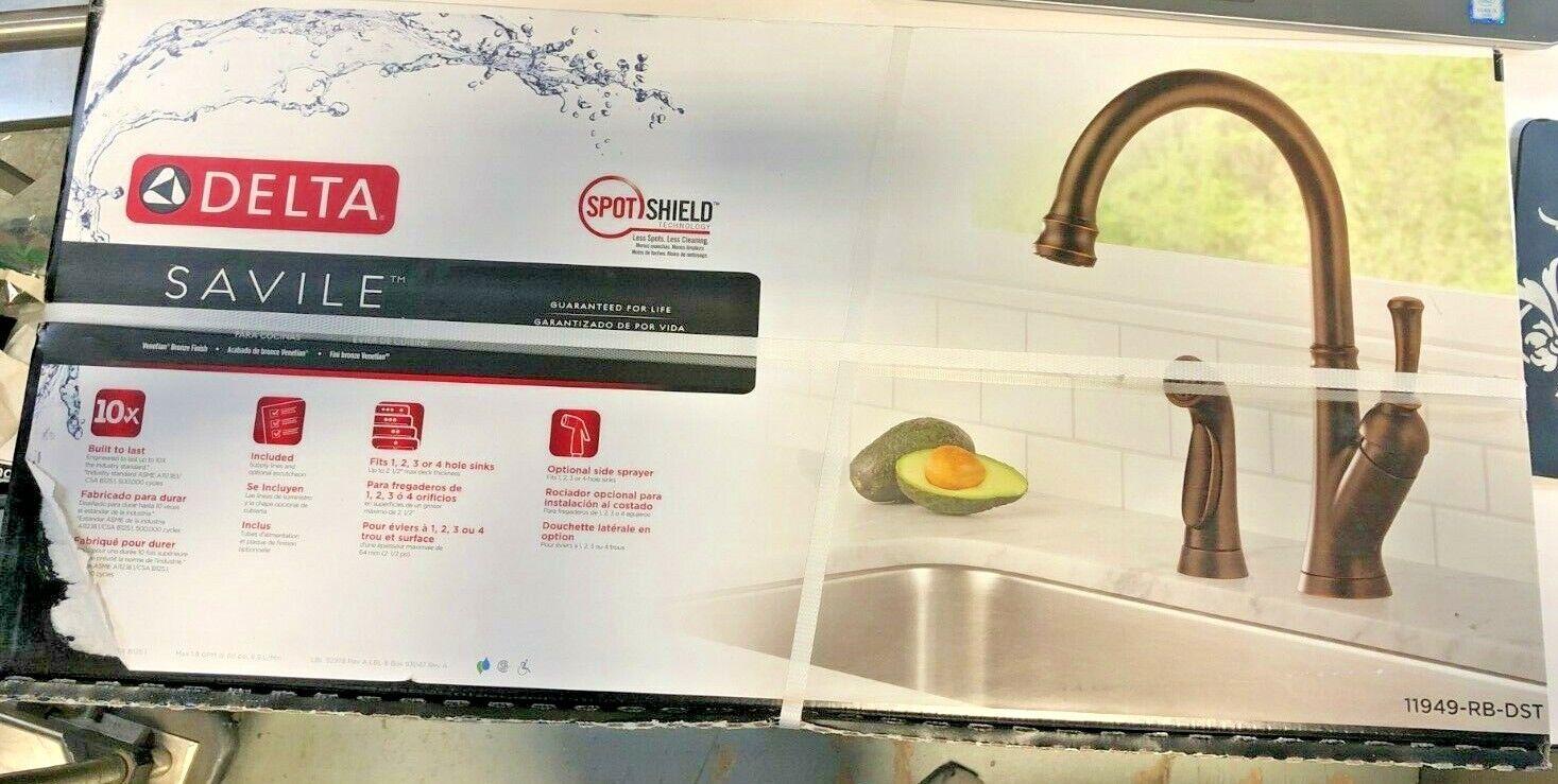 Delta 11949 Rb Dst Savile Single Handle Kitchen Faucet Venetian Bronze New Ebay