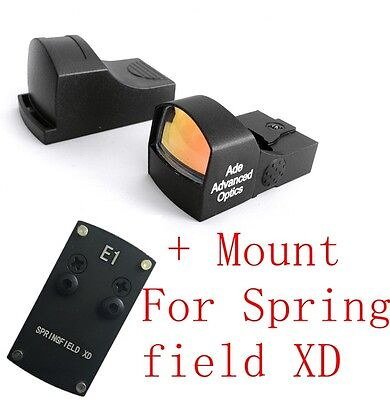 Ade Advanced Optics Compact Red Dot Reflex Sight Pistol for Springfield XD