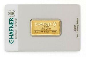 5 Gramm Goldbarren - C.Hafner Gold 999,9 Feingold Barren