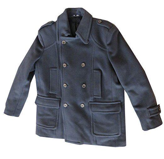 Sean John Womens Wool Blend Coat Grey