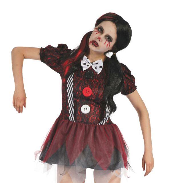 HALLOWEEN HORROR CREEPY SCHOOLGIRL UK 10-14 womens ladies fancy dress costume