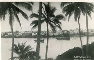 Carte-KENYA-MOMBASA-from-the-Mainland-Palmiers-Embarcations