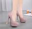 Womens Stilettos High Block Heels Shoes Patent Leather Party Platform Shoes Size