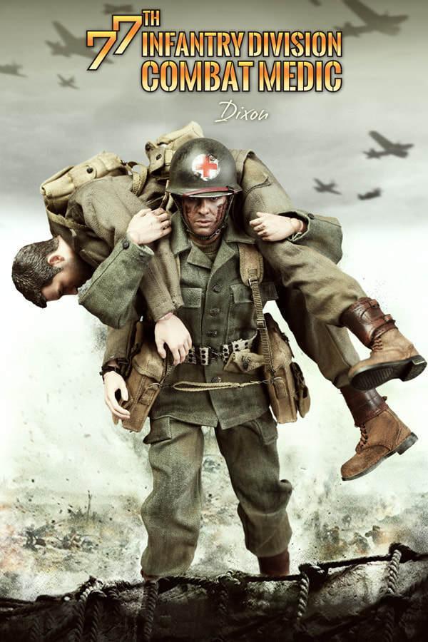 - 1   6 - skala 12  des zweiten weltkriegs uns 77. infanterie - division kriegsmediziner dixon a80126