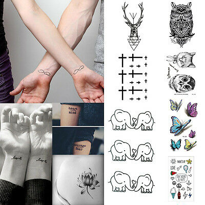 32 Styles Sexy Removable  Sleeve Waterproof Temporary Tattoo Body Art Sticker LA